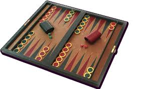 the shevach folding backgammon set is big enough for easy play yet folds up conveniently