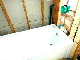 cost to install new bathtub bathroom demolition installation in tub remove and costume homemade c
