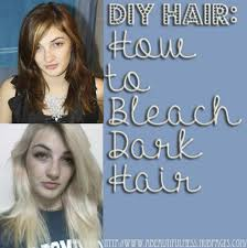 diy hair how to bleach dark hair