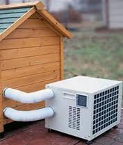 air conditioning dog house. no luxury dog house would be complete with one of these doggy air conditioner / heater units conditioning