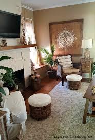 Monochromatic Boho Living Room - Take a little tour through my  monochromatic boho inspired living room