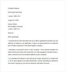 sample job offer acceptance letter     download free documents in    job offer acceptance letter to download
