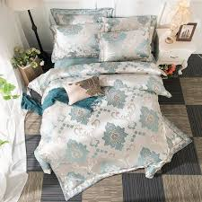 home textile bedding se green embroidered sheet duvet cover pillowcase 100 cotton king super king size bed linen set bedding set king queen comforters sets