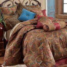 majestic looking blue paisley king comforter sets san angelo bedding set multi warm