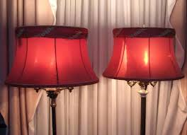 red table lamp shade antique floor lamp bell shade repair re lampshade small red table lamp