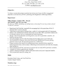 Sample Objectives For Resumes Career Objectives Resume Examples 98