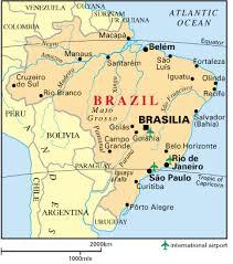 Бразилия Реферат от История  Гайана Суринам Гвиана Колумбия Перу Боливия Парагвай Аржентина Уругвай и има 7 367 км брегова ивица с Атлантическия океан Бразилия