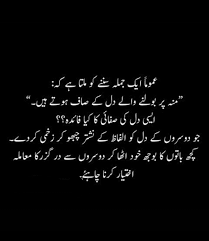 دل کی صفائی اردو Urdu Quotes Urdu Words Quotes From Novels