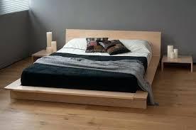 solid wood platform bed frame king diy full size low natural company bedroom home improvement excellent