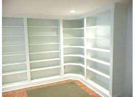 custom built in shelves custom built in shelves cost builtin bookcase white painted wooden built it