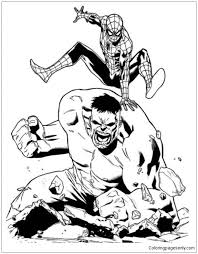 Select from 34975 printable crafts of cartoons, nature, animals, bible and many more. Spiderman Vs Hulk Superheroes Coloring Pages Spiderman Coloring Pages Free Printable Coloring Pages Online