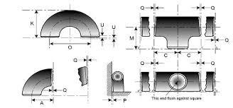 Pipe Fittings Chart Pipe Fitting Dimensions Tolerances And Pipe Fittings Material