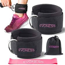 EVONESS <b>Ankle Straps</b> for <b>Cable</b> Machines and <b>Resistance</b> Band