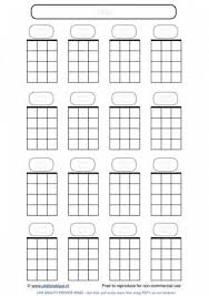 Blank Ukulele Chord Chart Printable Blank Ukulele Chord Paper Handy For Lefties Crafts