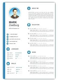 Free Downloadable Resume Templates Gorgeous Download Resume Template Word Resume Template 60 Free Download