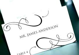 Dinner Name Card Template Free Wedding Table Name Cards Template Lojazaac Com