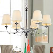 chic modern style chandeliers modern style chandeliers with 6 light fabric shade simple charming