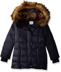 S13 Coat Size Chart Details About S13 Girls Chelsea Gloss Down Puffer With Faux Fur Hood