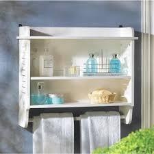 slatted white bathroom wall shelf