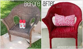 painting wicker furnitureKrylon Dual Repainting a Wicker Chair