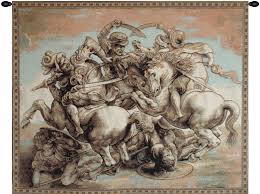 the battle of anghiari italian traditional art tapestry wall hanging h20 x w25  on wall art tapestry hangings with the battle of anghiari italian traditional art tapestry wall hanging