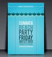 Free Vector Summer Beach Party Flyer Template 03 - Titanui