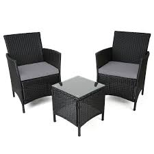 image black wicker outdoor furniture. christow black rattan table u0026 chairs garden patio furniture set with cushions amazoncouk kitchen home image wicker outdoor b