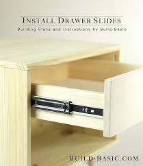 installing side mount drawer slides step by step instructions to build wooden drawers for installation in
