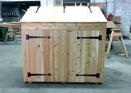 trash bin plans outdoor trash can enclosure garbage bin storage shed plans garbage can storage shed