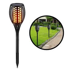 ... Zugo Solar Path Dancing Flame Tiki Torch Light (2 Pack) ...