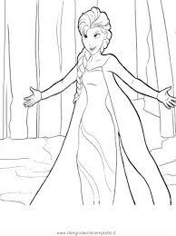 Disegno Frozen Elsa1 Personaggio Cartone Animato Da Colorare