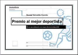 Plantillas De Diplomas Deportivos Imagui