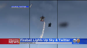 Lights In The Sky Los Angeles Today Red Bull Base Jumpers Fly Through Downtown Sky