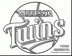 fabulous twins baseball coloring pages with baseball coloring ...