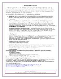 Sample Resume For Graduate School In Psychology New Graduate School