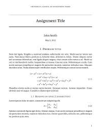 Short Templates Latex Templates Short Sectioned Assignment