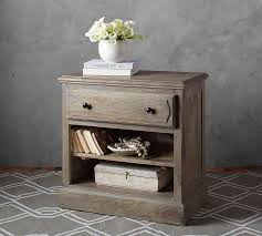 extra wide bedside tables linden bed extra wide dresser and bedside table set pottery barn