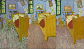 three variations of vincent van gogh s the bedroom courtesy of the art institute of