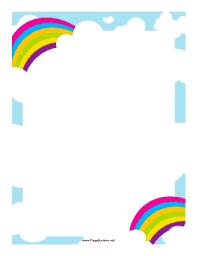 Pair Of Rainbows Border