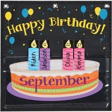Month At A Glance Birthday Space Saver Pocket Chart