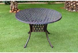 almeria small round patio table
