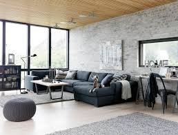 Stunning Living Room With Industrial Design Interior ...