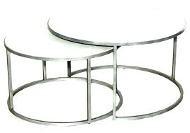 side tables nested side table coffee tables round nesting set of 2 glass white nested side