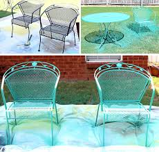 fearsome spray painting wrought iron patio furniture picture concept