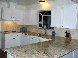 Black Granite Countertops With Tile Backsplash Cool Backsplash With Granite Countertops Subway Tile Idea Backsplash