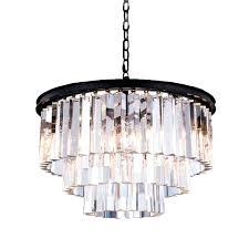 glass drops chandelier rectangular