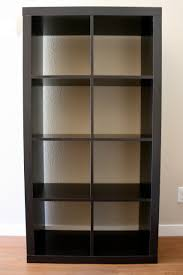 Ikea Bookshelves Expedit Furniture Bookcase In Black On White Wall For Best  9
