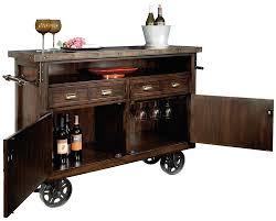 Cherry Bar Cabinet 695146 Howard Miller Rustic Distress Wine Bar Cart Console
