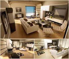 Designs by Style: Nikolaou White Grey Wood Living Room - Bachelor Pad