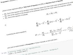 statistical terms in data science and regression metrics